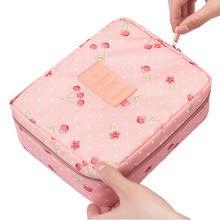Neceser Rushed Floral Nylon Zipper New Women Makeup bag Cosmetic bag Case Make Up Organizer Toiletry Storage Travel Wash pouch(China (Mainland))