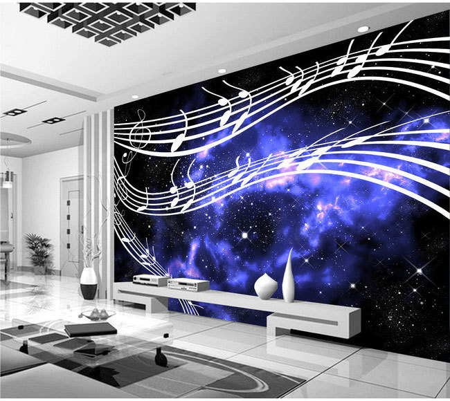 KTV Television Musical Note Sheet Music Background