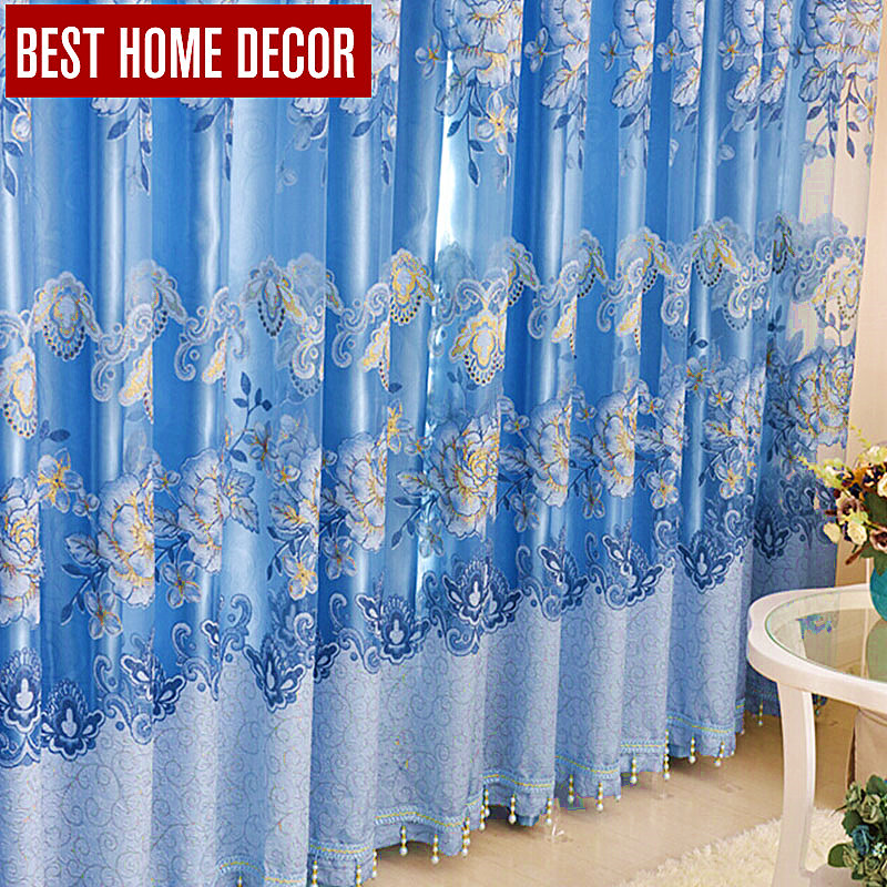 buy best home decor floral drapes window blackout