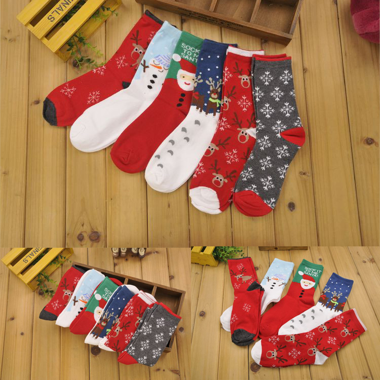 1pair Xmas Gift Unisex Christmas Day Socks Cotton Socks Three Colors Can Be Choose Men&amp;Women SocksОдежда и ак�е��уары<br><br><br>Aliexpress