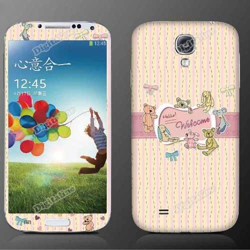 DigitaLine Market Animals Meeting Front Back Full Body Screen Shield for Samsung Galaxy S4 I9500(China (Mainland))