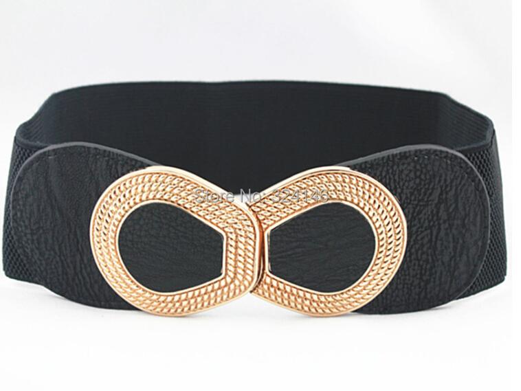 2015 factory price 100% new Elasticity width belts elegance Ms. luxury girdle women dress black belt wholesale fashion strap(China (Mainland))