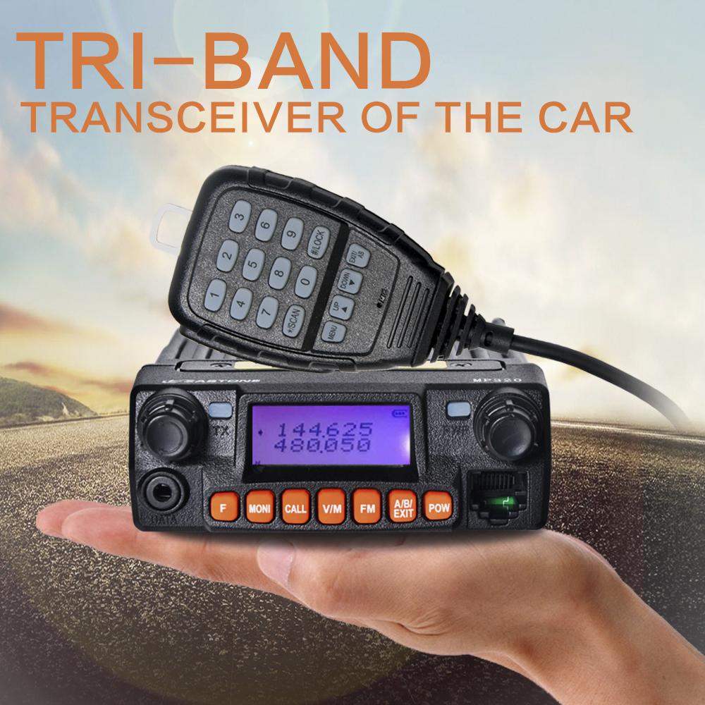 Newest Zastone mobile radio MP320 20W MINI Moblie radio 136-174/400-480MHz/460-520MHz car radio MP-320(China (Mainland))