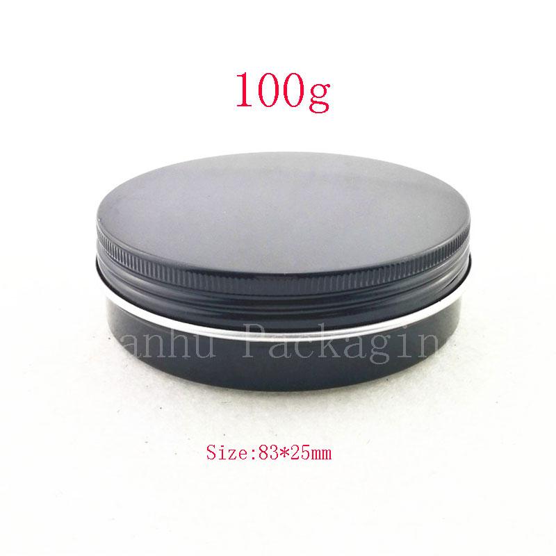 100G black aluminum jar (1)