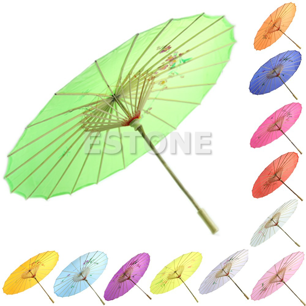 Chinese Japanese Umbrella Art Deco Painted Parasol For Wedding Dance Party HQ(China (Mainland))