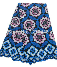 FREE SHIPPING By DHL! Beautiful big flower design african lace modern fabric french style textiles in stock(China (Mainland))