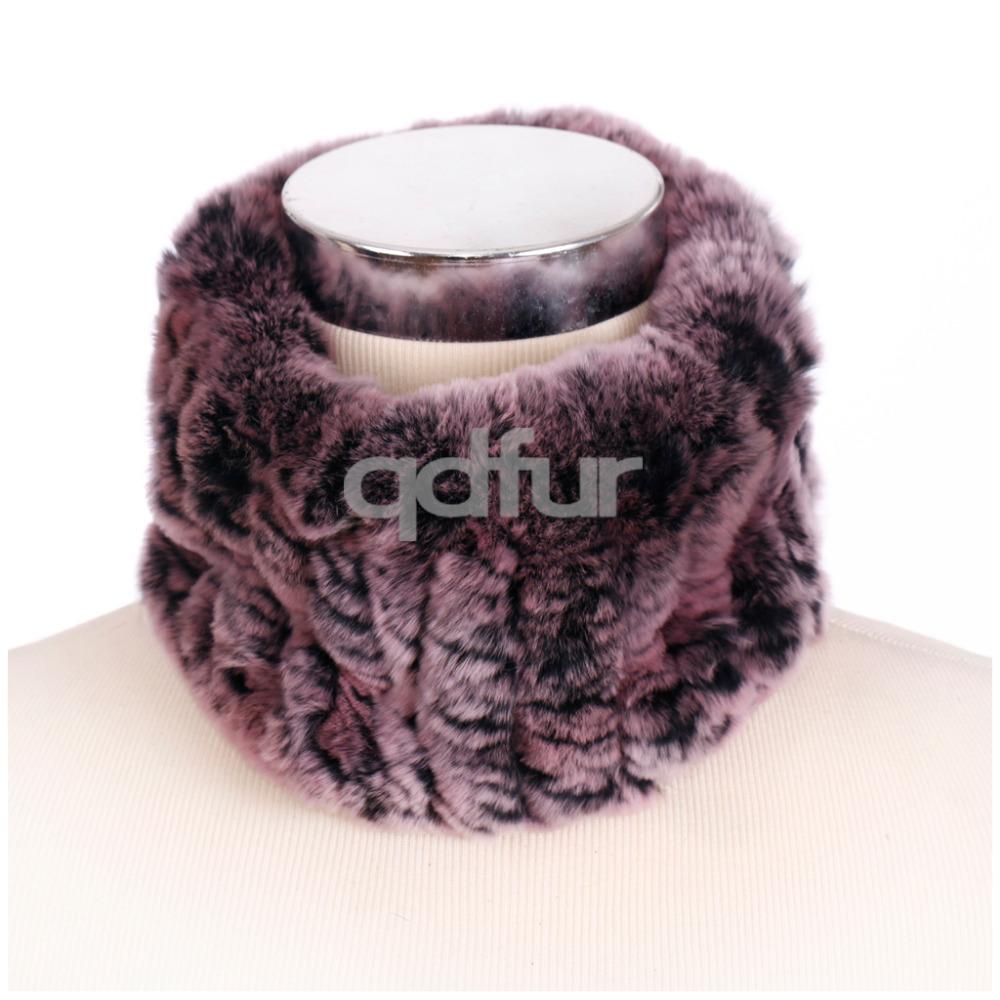 Handmade Ladies' Genuine Natural Knitted Rex Rabbit Fur Scarf Scarves Winter Women Fur Ring Neckchief Mufflers Headband QD30440(China (Mainland))
