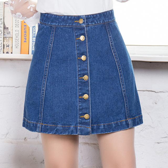 new fashion 2016 vintage blue denim mini skirts