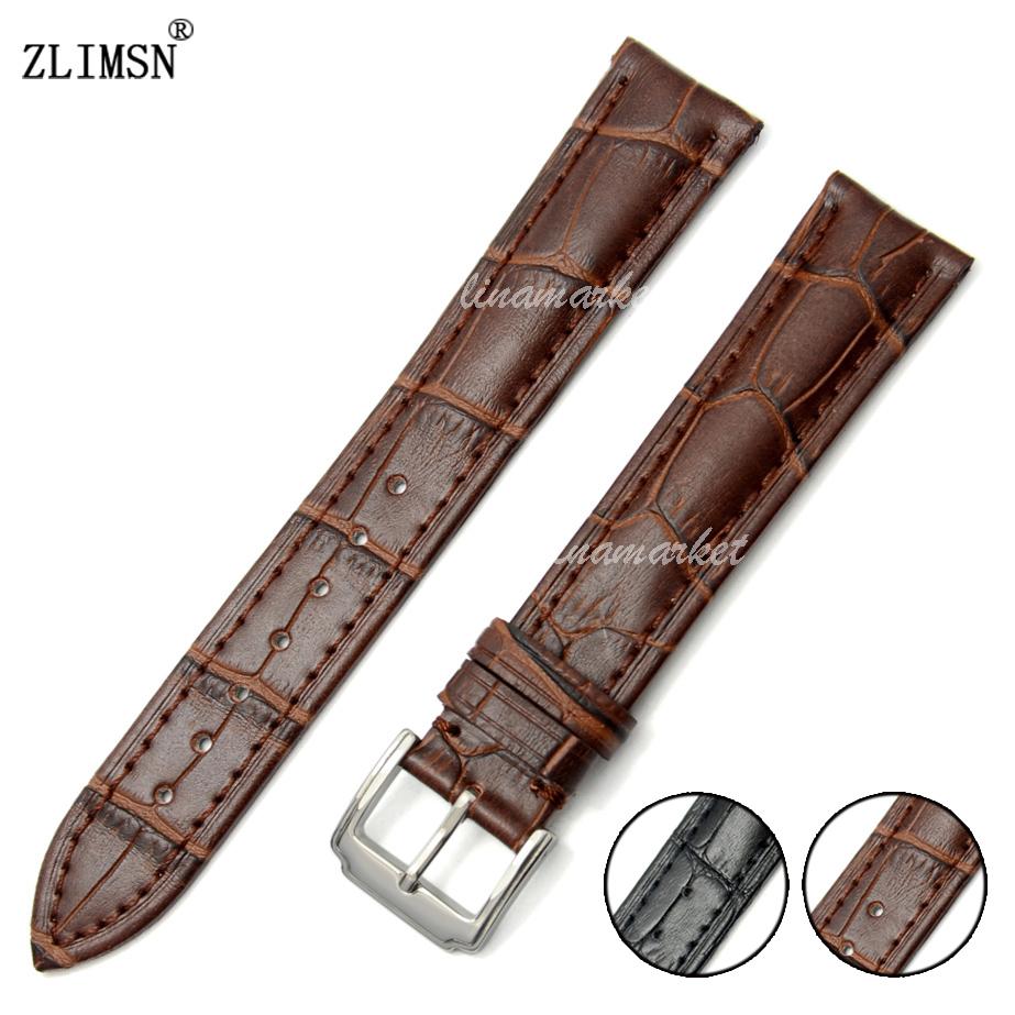 20mm New Brown Soft 100% Genuine Leather alligator grain Watch Band Strap belt Watchbands(China (Mainland))