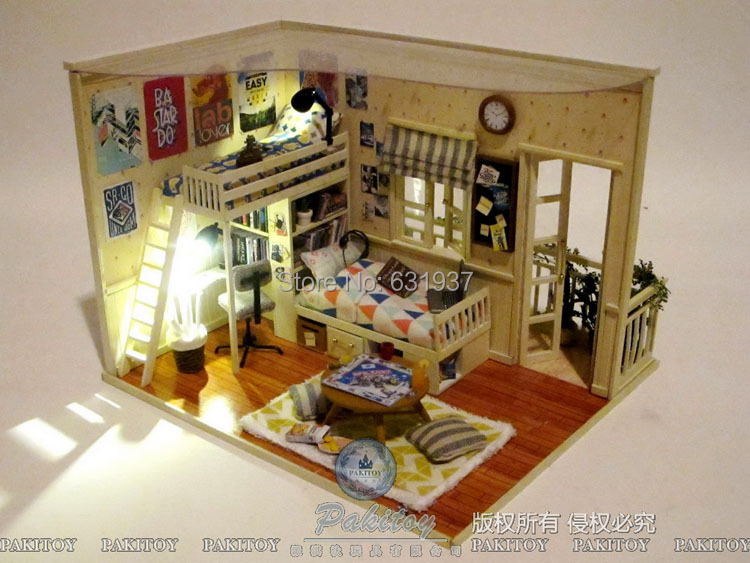 Free Shipping diy dill house Clay handmade assembling model birthday gifts dollhouse toy<br><br>Aliexpress