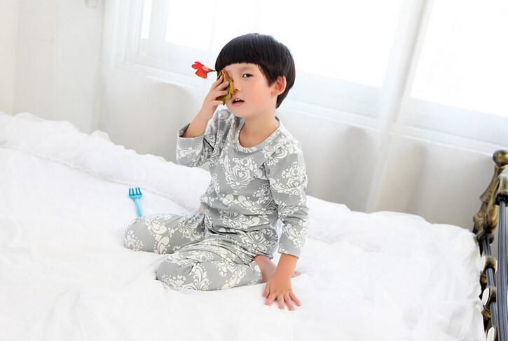 Cute Pyjama Children,Pyama Children Boys,Girls Sleepwear,2016 New Cotton Cloth Full Sleeve Home Amusement 2Pcs Sleepwear Go well with 031610 (5)