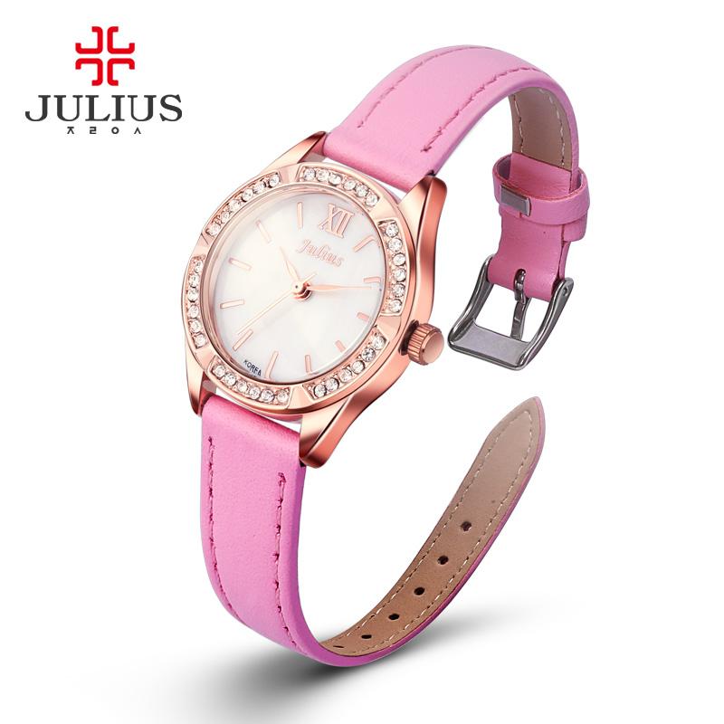 Julius Lady Woman Wrist Watch Elegant Shell Fashion Hours Dress Bracelet Steel Leather Chain Girl Birthday Christmas Gift 730<br><br>Aliexpress