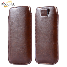 Buy KISSCASE Universal Pull Tab Sleeve Pouch Case iPhone 6 7 Leather Case Samsung S8 Xiaomi Redmi 4 Pro Mi5 4C Huawei Honor for $2.78 in AliExpress store