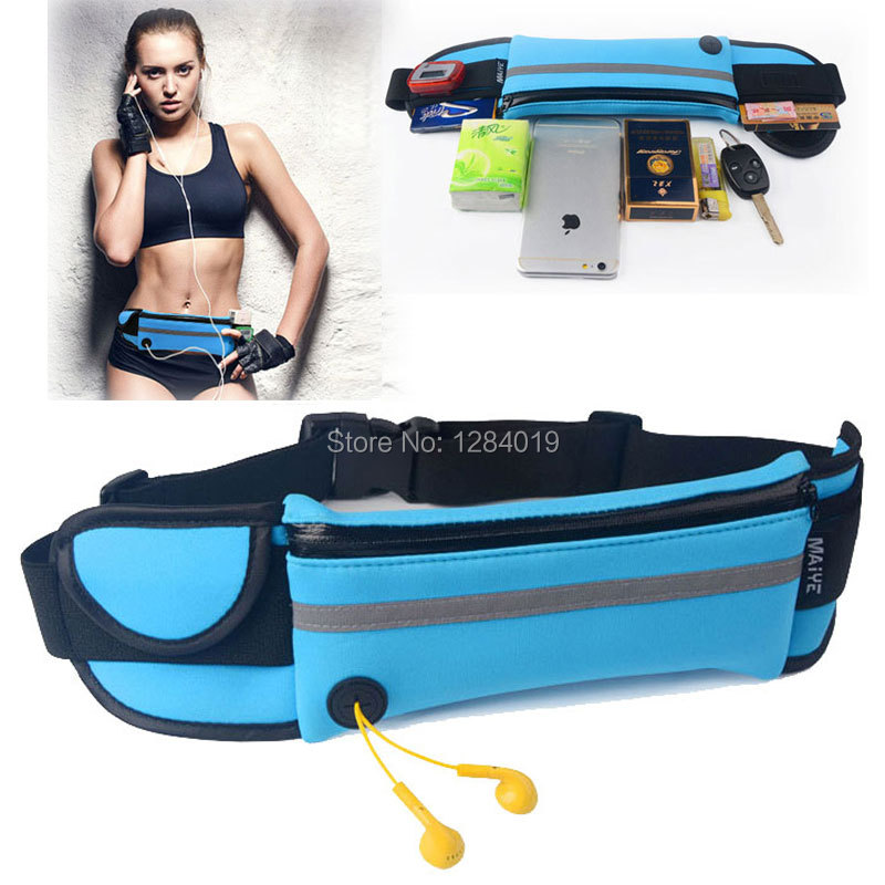 Outdoor Sports Waist Packs Bags for Samsung Galaxy S7 Edge case Running Sport Waistband wallet Phone case Small Travel Belt Bag(China (Mainland))