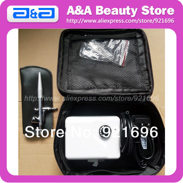 Фотография Airbrush Make Up / Beauty Compressor With Bag, Airbrush Beauty System, Piston Mini Airbrush Compressor