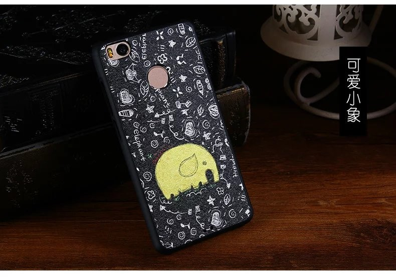 Mi 4s Cute Hello Kitty Cartoon Painting PU+TPU Soft Funda Coque Capa Skin Case for Xiaomi Mi 4s Mi4s Back Cover Accessories