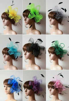 High quality handmade feather fascinator  women Hair Accessories cocktail hat  hair ornaments