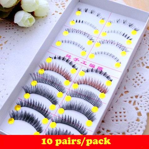 10 different styles mixed eyelashes and lower eyelashes.female accessory.18.18599.Free shipping(China (Mainland))