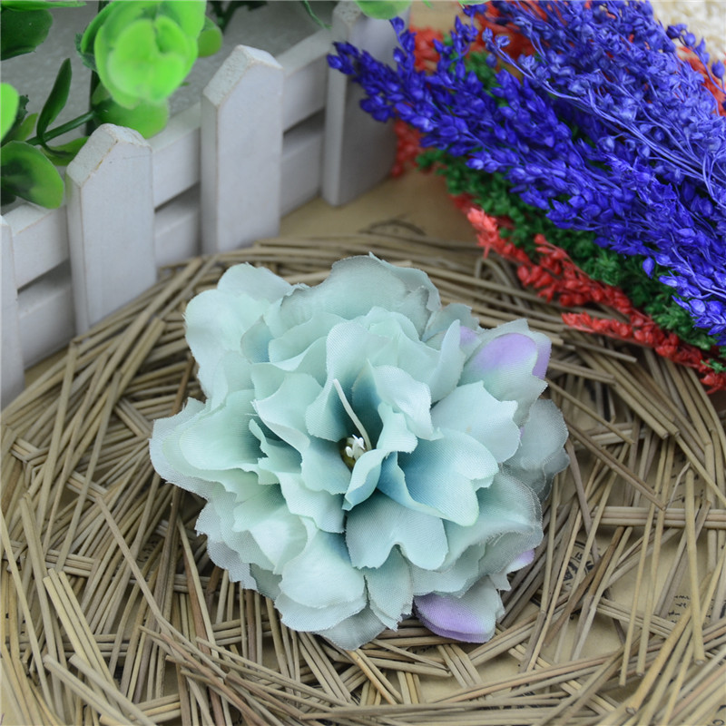 10pcs 8.5cm Large Silk Rose Artificial Flower Head For Wedding Decoration DIY Garland Decorative Real Touch Peony Fake Flowers(China (Mainland))