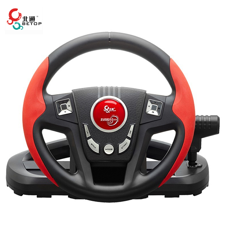BETOP BTP-3189 300 Degree Shock Computer Driving Game Racing Wheel with Pedals Shift for PC for PS3(China (Mainland))