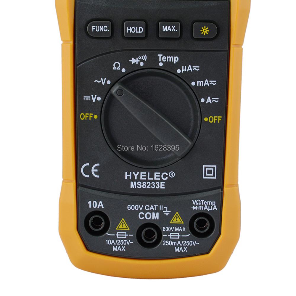 Мультиметр HYELEC, MS8233E ,