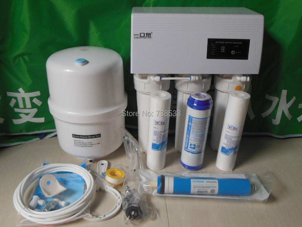Гаджет  Electronic 2014 New 5 Stage 50G Reverse Osmosis Water Filters For Household Reverse Osmosis System Water Purifier RO System None Бытовая техника