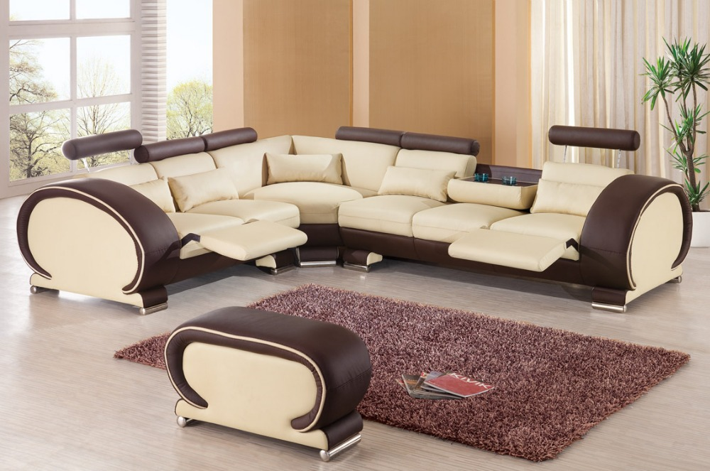 top graded real/genuine italy leather corner sofa suite sectional chesterfield living room home furniture shipping to your port(China (Mainland))