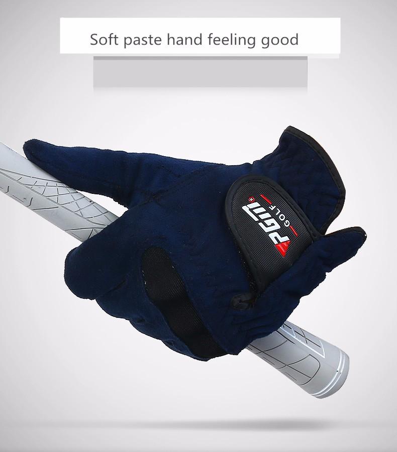 Genuine PGM golf gloves men ST004 Fabric Navy blue luvas golf accessories guante golf glove handschoen