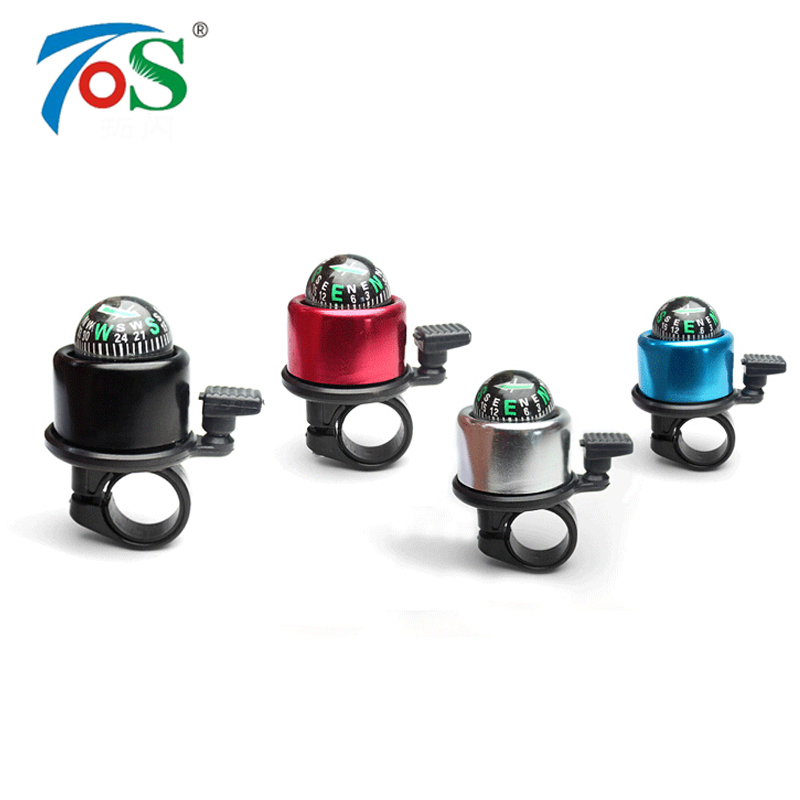 TOS 1PC Compass Aluminum Alloy Bicycle Accessories Bell mountain Bike Bell Alarm Sound High Quality Bike Handlebar Ring Horn(China (Mainland))