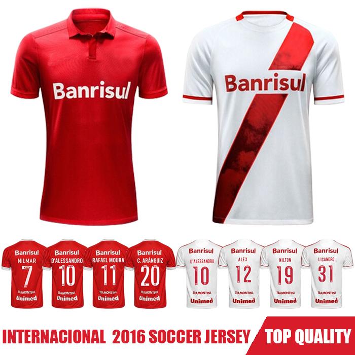 Camisa Do Sport Club Internacional 2016 Soccer Jerseys,Chandal Jersey Football Shirt Custom Camisetas De Futbol Corinthianser(China (Mainland))
