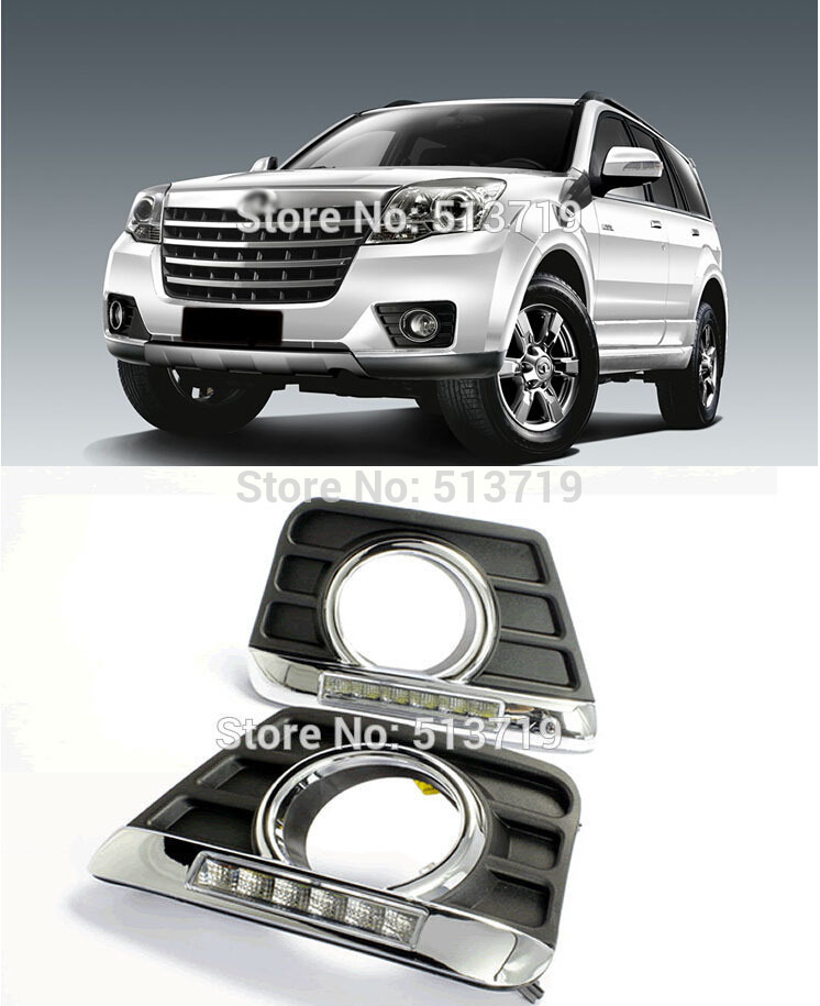 LED Daytime Running Light H3 Hover Great Wall HAVAL, Daylight Auto DRL Car Fog Lamp Super Bright