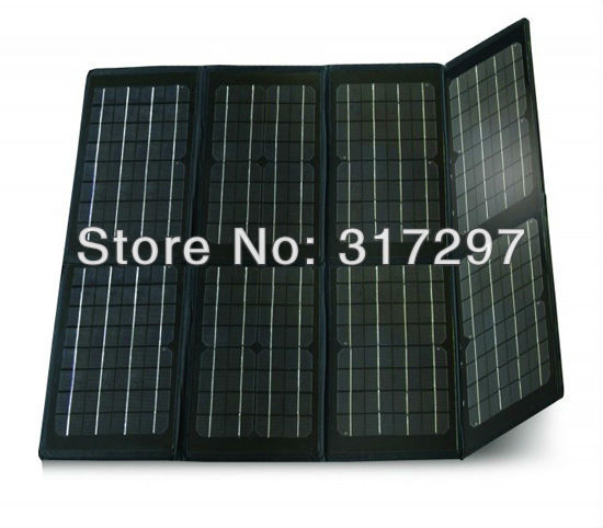 Free Shipping! 80 Watt Folding Solar Panel Battery Charger 12V for Car/the Laptop Computer(China (Mainland))