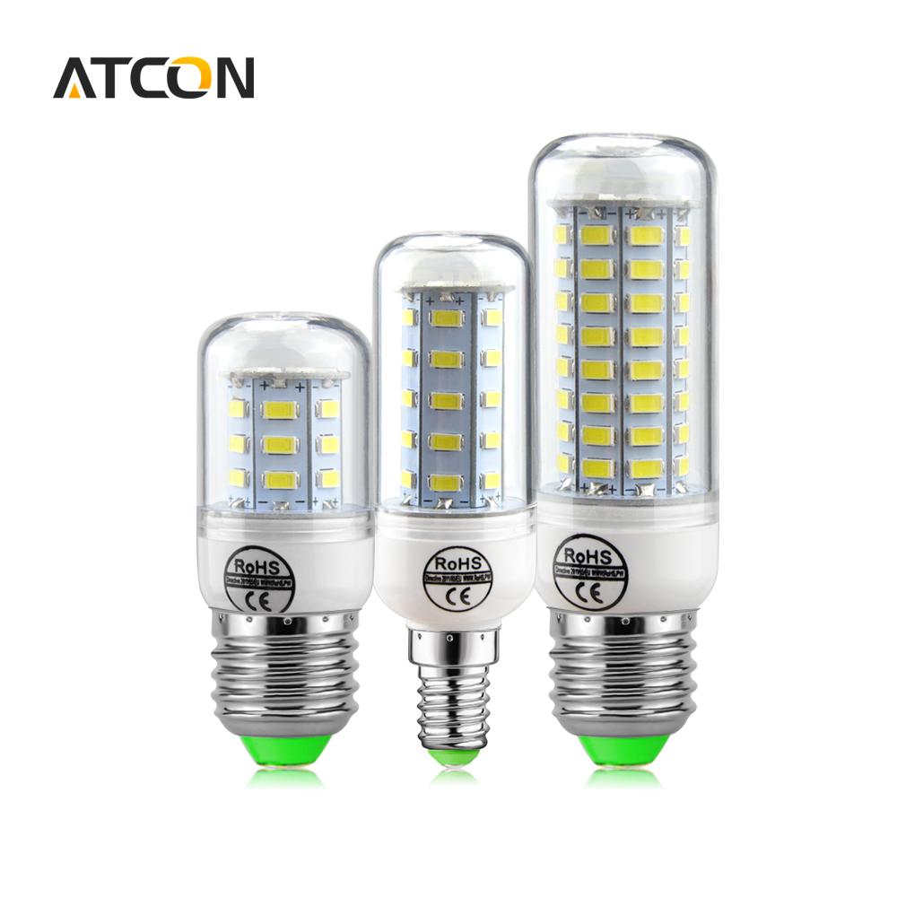 1X Long Lifespan No Flicker LED lamp 5730 SMD 220V 240V E27 E14 24 -89 LEDs Bulb Smart IC Diver Replace 7W-35W Fluorescent Light(China (Mainland))