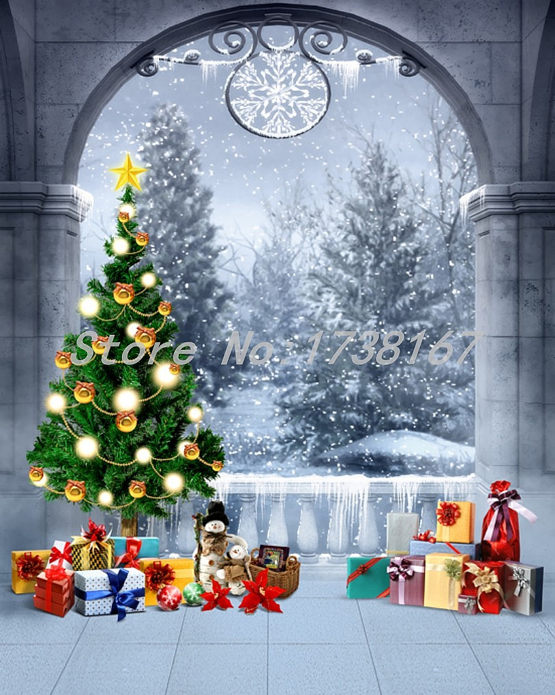 Photography Background Christmas Vinyl Photography Backdrops Hot Sell Gift 200cm *300cm Baby Photo Studio Props L880<br><br>Aliexpress
