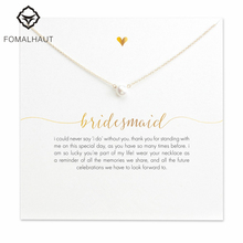 Buy FOMALHAUT bridesmaid small imitation pearl Pendant Necklaces Clavicle Chains necklace Fashion Women Jewelry for $1.21 in AliExpress store