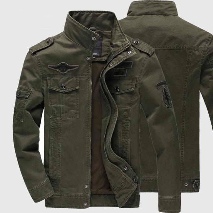 2015 High Quality Mens army soldier Jacket Washing cotton Air force one jacket male 4XL 5XL 6XL Plus size Spring Autumn WA199