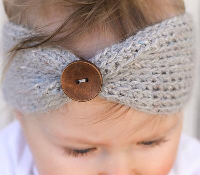 Newborn Knit headband Baby girls Warm Crochet Headwrap Bow Knot Turban For Children Hair accessories Infant Top Hairband(China (Mainland))
