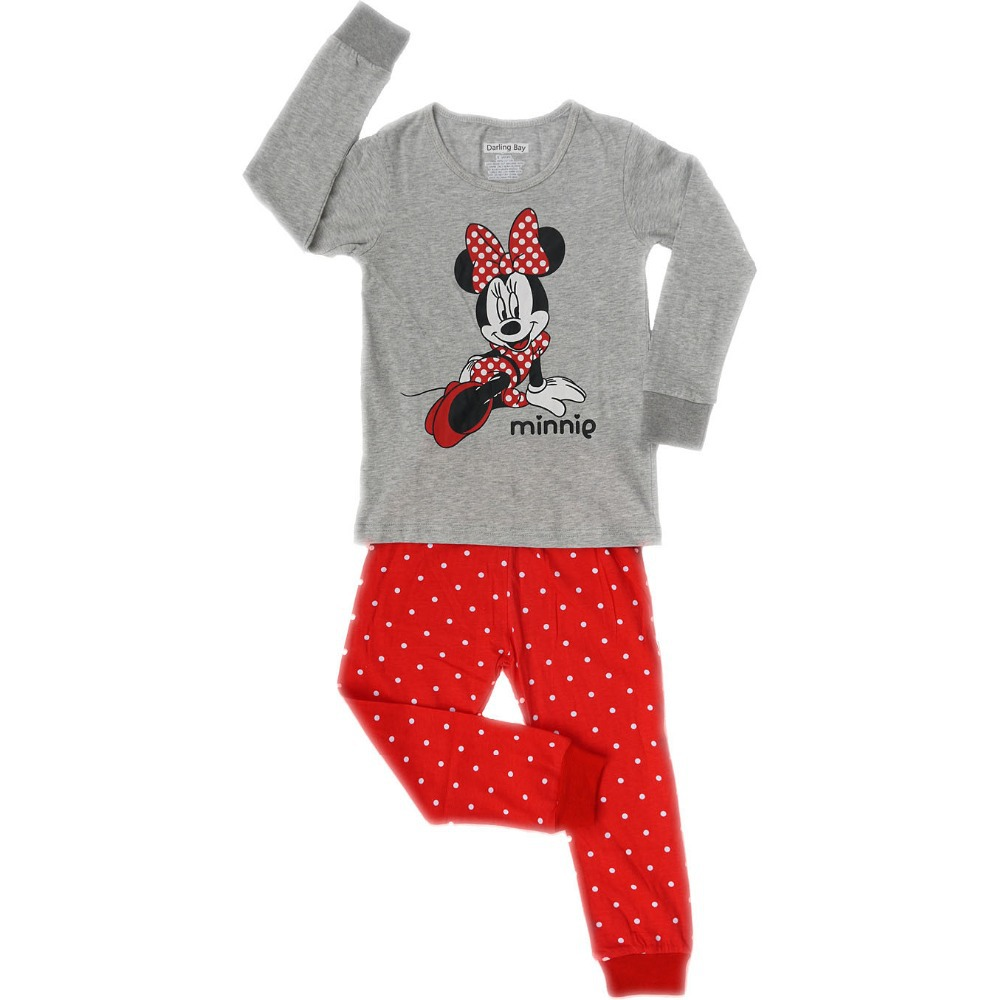 2014 new fashion minnie&amp;mickey very soft cotton baby girls pajamas sets clothing kids sleepwear children nightgown for 80-130cm<br><br>Aliexpress