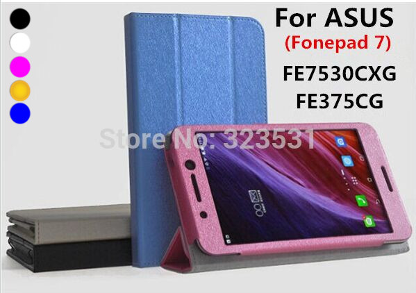 Built Magnet super quality 7.0'' cover case ASUS Fonepad 7 FE7530CXG & FE375CG Tablet PC Folding stand - ABest Mall store