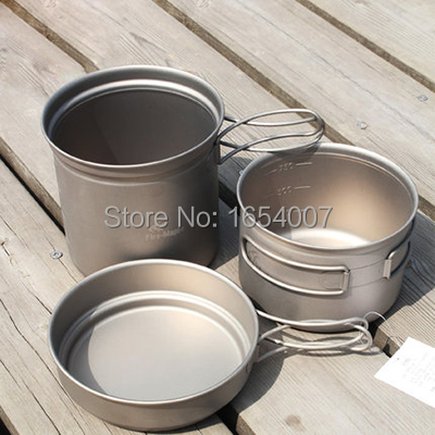 New Fire Maple FMC-TD2 Pot Sets Outdoor Portable Camping Tablewares Camp Cooking Cookware Picnic Titanium Cutlery 1-2 Persons(China (Mainland))