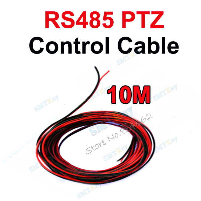10m cctv RS485 to PTZ Control Cable for cctv camera rs485 port connection control with keyboard(China (Mainland))
