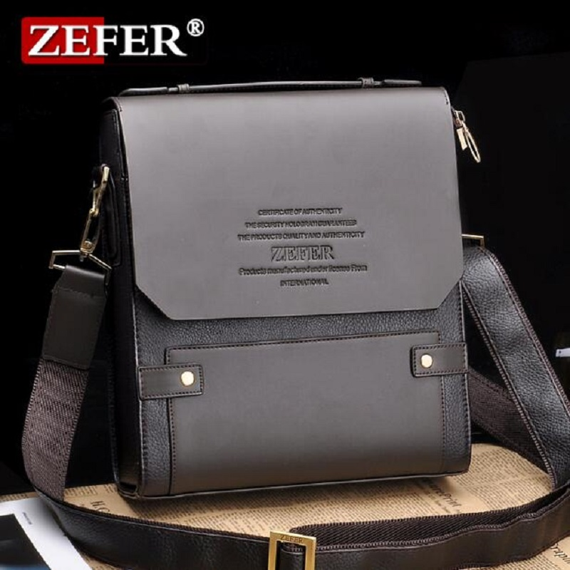 ZEFER Brand 2016 Hot Selling High Quality PU Leather Messenger Bag Fashion Men's Shoulder Bag Casual Briefcase AZ031-05(China (Mainland))