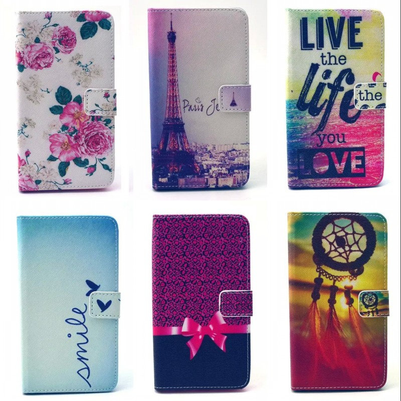 For LG Optimus L90 D405 Dual D410 Case High quality Cartoon Design Magnetic Holster Flip PU Leather Phone Cases Back Cover(China (Mainland))