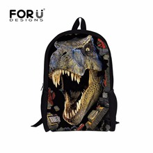 3D Zoo Animals School Bags for Boys Dinosaur Tiger Horse Dog Owl Shark Schoolbag Child Bookbag Kids Backpack for Teenagers Girls