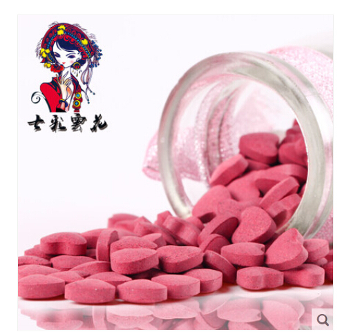 60g/can Rose essence tablet China green health food Rose fragrance body sugar sweet body absorb easily broken wall without sugar(China (Mainland))