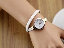 Leather Strap Bracelet Dress Watch Women Ladies Fashion Rhinestone Analog Quartz Wristwatch Relogio Feminino Gift clocks