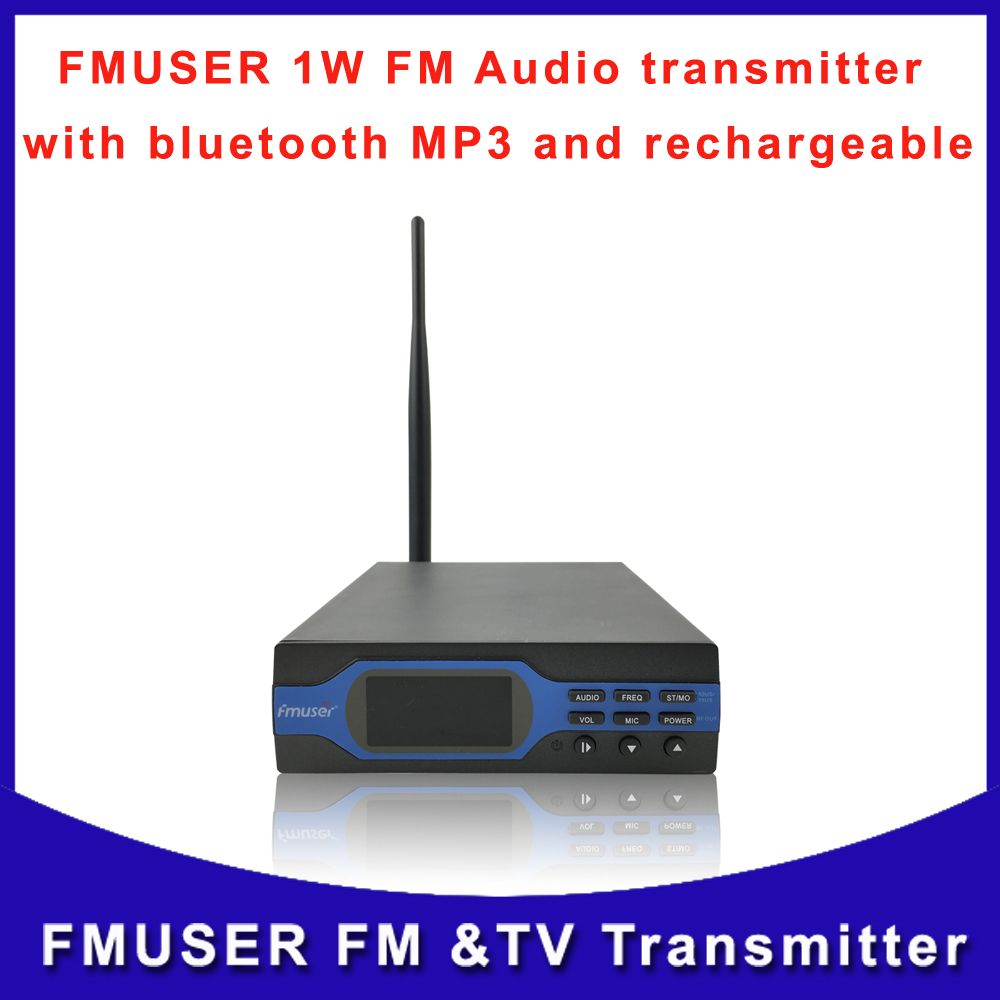 Fmuser FU-X01B 1W FM Radio Wrieless broadcast FM audio transmitter Bluetooth MP3 with indoor antnena A KIT(China (Mainland))