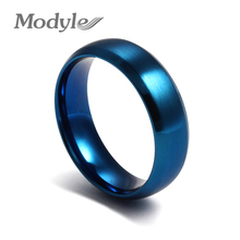 2016 New Fashion Stainless Steel Blue Color The Rings for Men and Women Finger Ring Jewelry(China (Mainland))