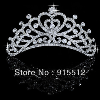 Whole-Sale Bling Bling Rhinestone Crystal Tiaras for Wedding and Party Hair Accessories Pageant Crowns