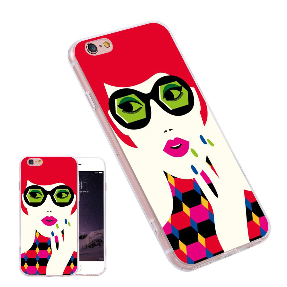 Phone Case iPhone 6 6S Plus 5s 3D Printing Bag Cover Samsung S6 S7 Edge Note7 A7 J7 E5 S5 Red Girl Silicone Rubber  -  KISSCASE OFFICAL STORE store